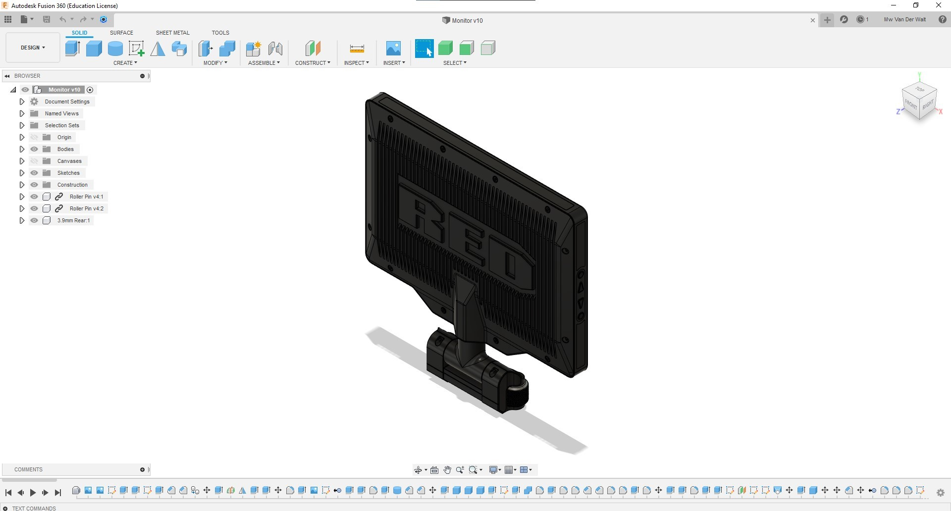 Fully-Rigged-Fusion360-Monitor-Rear