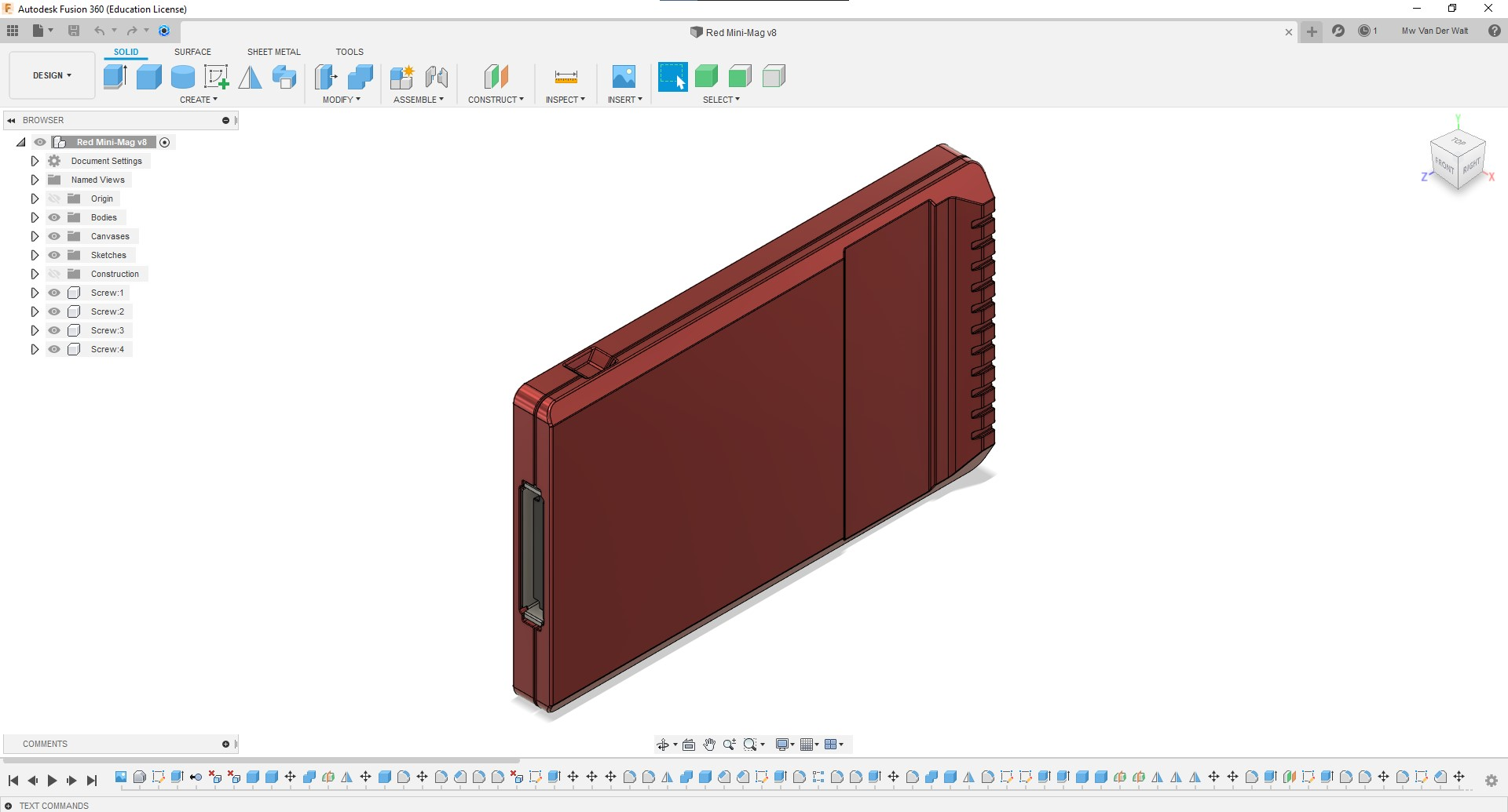 Fully-Rigged-Fusion360-RED-MINI-MAG-Front