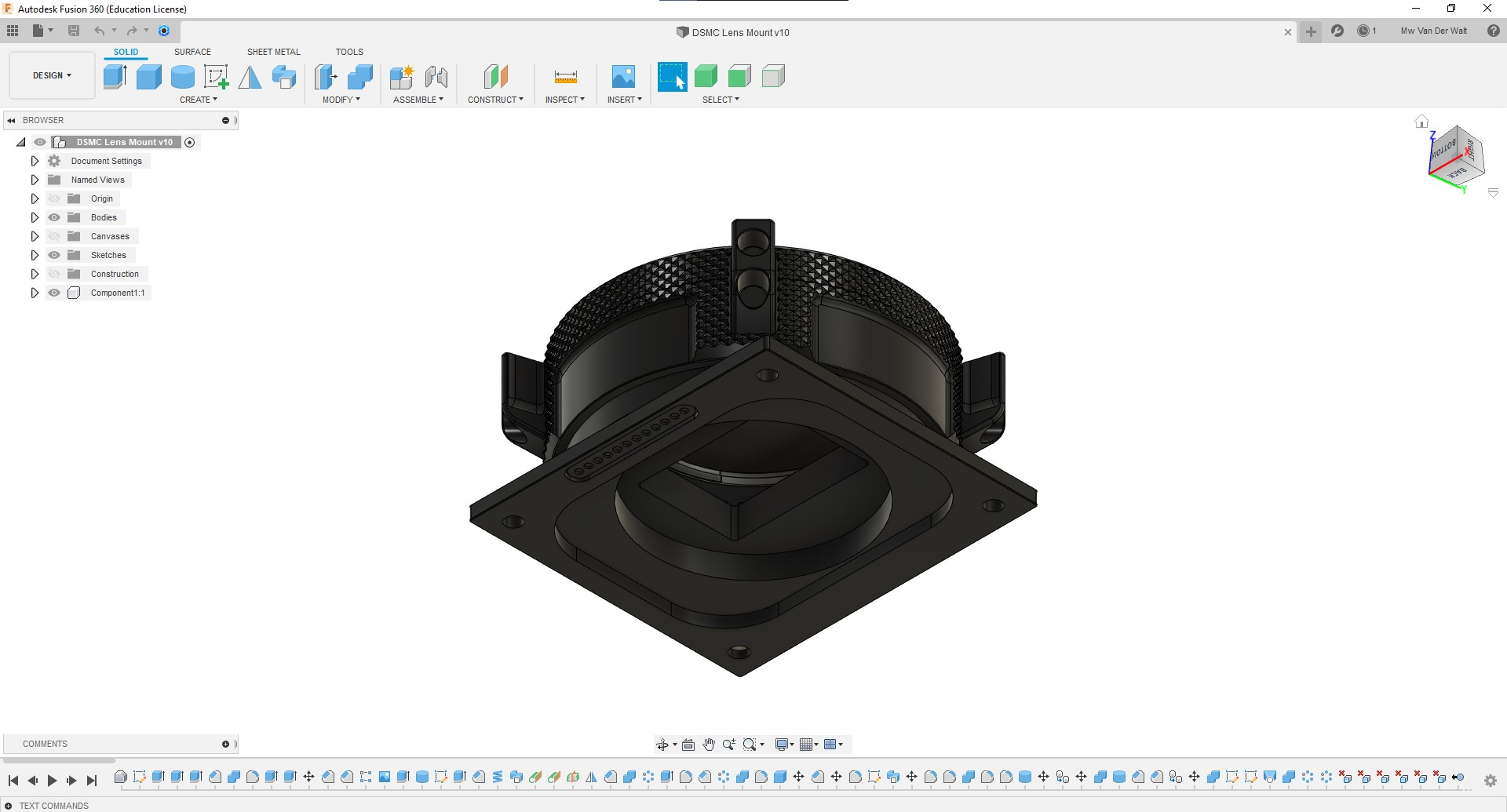 Fully-Rigged-Fusion360-Lens-Mount-Rear